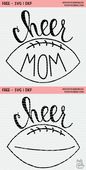 Cheer footbal free cut file