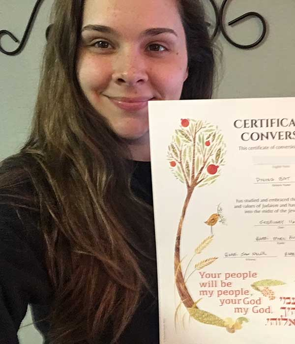 new certificate for converting to judaism online