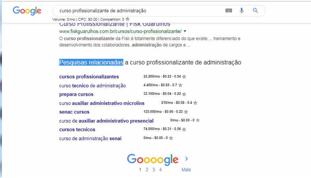 Anunciar curso profissionalizante busca google 3