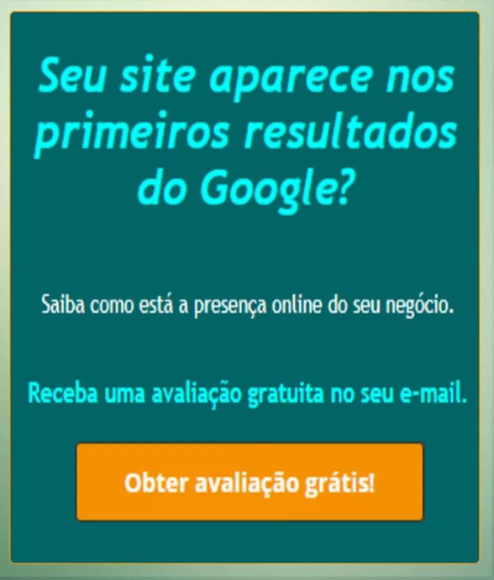 Análise gratuita de posicionamento web - banner