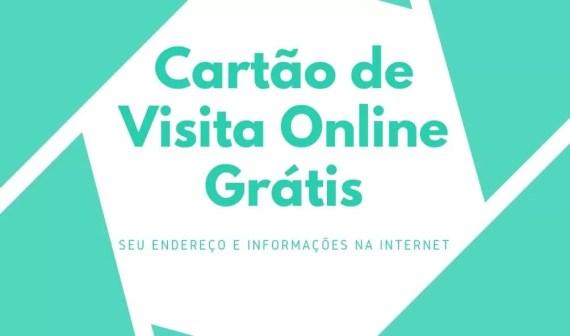 Cartão de visita online grátis