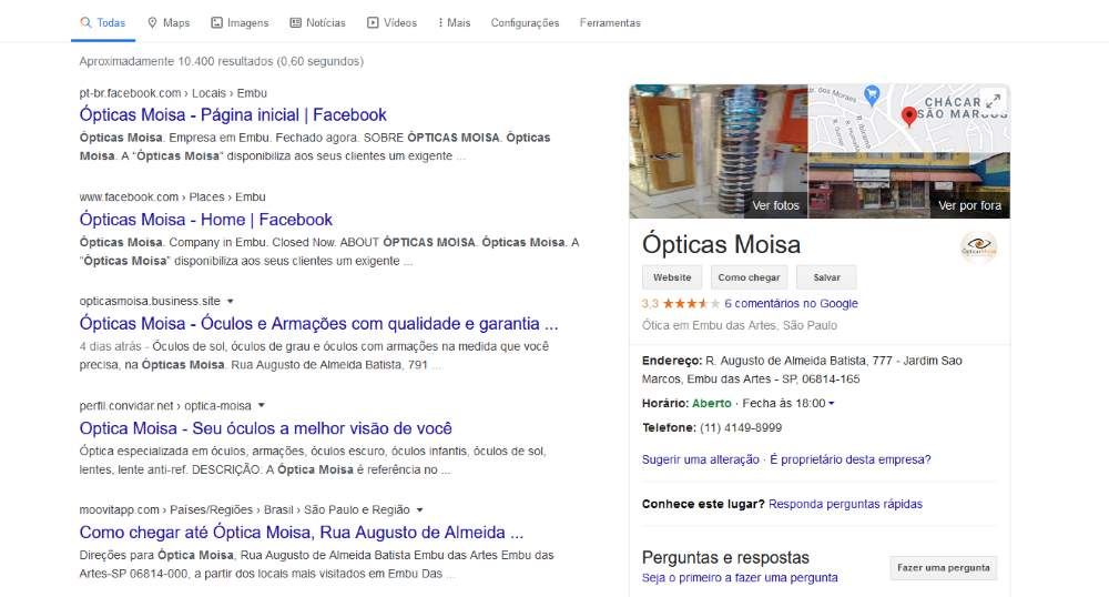 opticas-moisa-google-maps