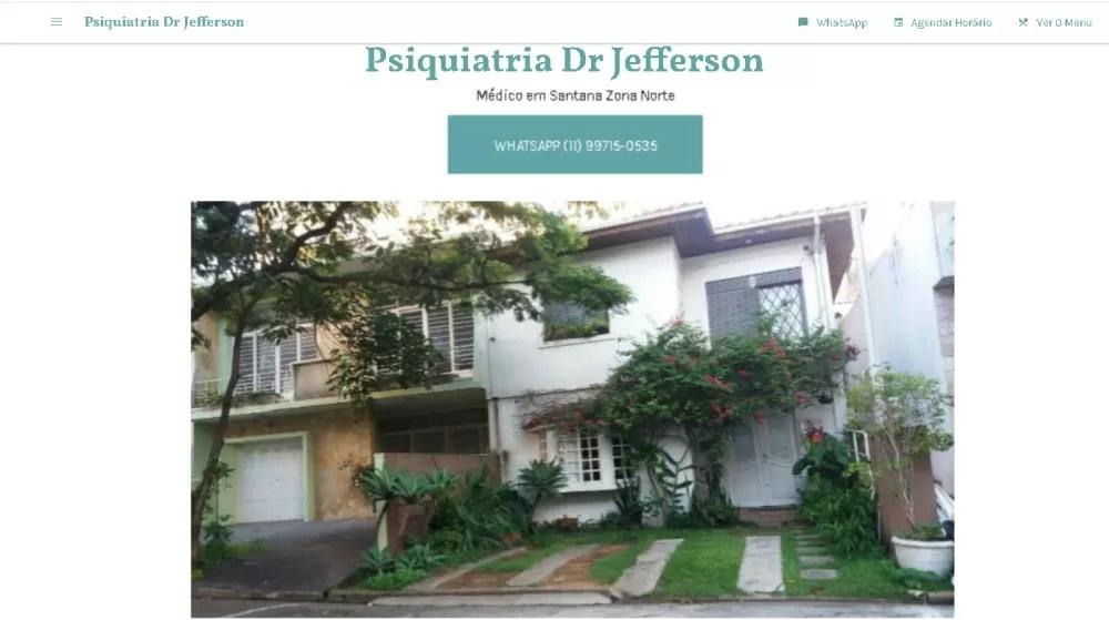 perfil do google meu negocio psiquiatria dr jefferson
