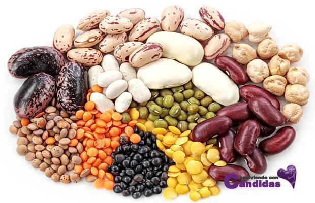 legumbres para candidiasis