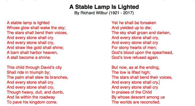 Marty Haugen - A Stable Lamp Is Lighted Lyrics | Musixmatch