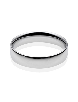 Platinum Court Wedding Band 5mm