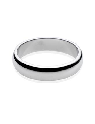 Platinum D Shape Wedding Band 5mm