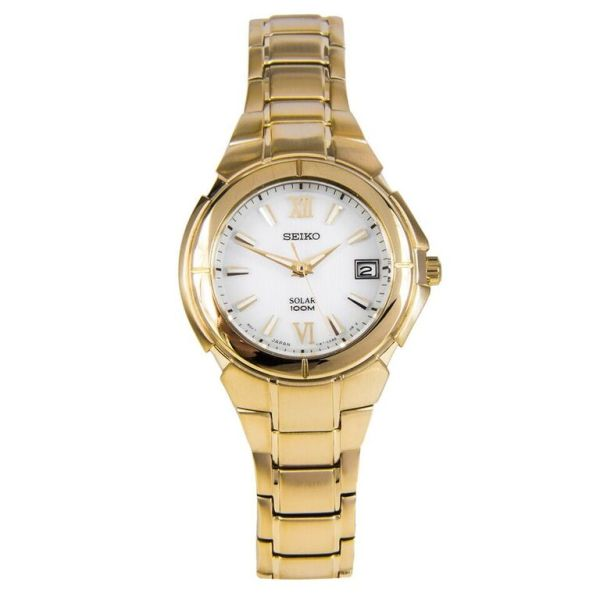 Seiko ladies solar gold
