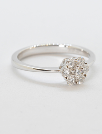 18k White Gold Diamond Engagement Ring .33 carat