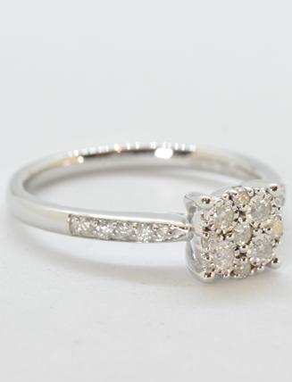 9k White Gold Diamond Engagement Ring .23 carat