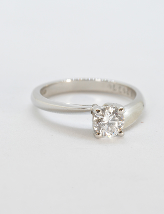 Platinum Twist Diamond Engagement Ring .65 Caret