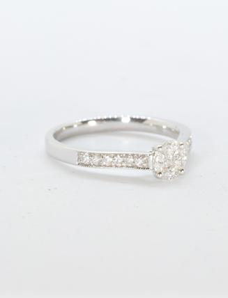 18k White Gold Diamond Engagement Ring .25 carat