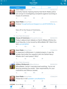 David Jones Mp and his anonymous Twitter account used to troll Guto Bebb.