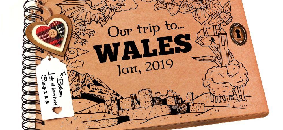Wales themed scrapbook Cymru