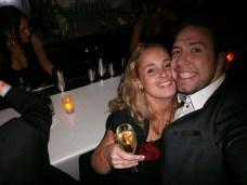Inge and Dimitri enjoying Champagne