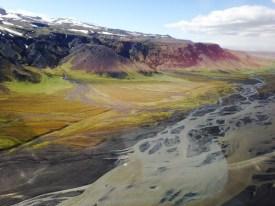 Uitzicht IJsland vanuit de helikopter. Puur geluk, RTL4, Endemol, Staatsloterij, IJsland, Dimitri, Inge