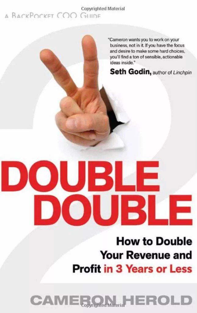 Double Double book cover written by Cameron Herold