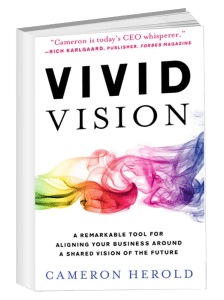 Vivid Vision book cover written by Cameron Herold