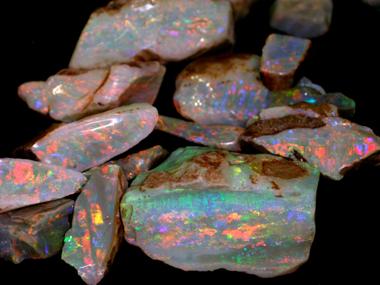 An abundance of opal in Coober Pedy
