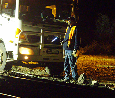 In a 12 hour ordeal, workers were able to repair damages and return the train to its tracks.  Photo: Nellie Malseed