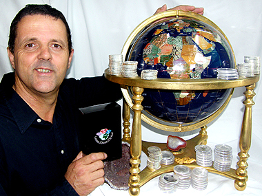 Wayne Sedawie says opals and coins go together very well