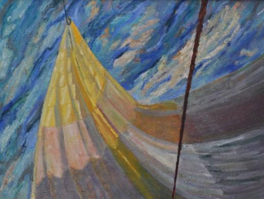Ruime wind V, geel / od / 60x78