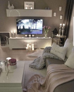 Cozy Apartment Living Room Decoration Ideas 44
