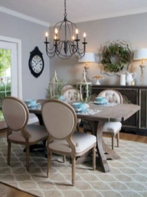 Incredible Fancy French Country Dining Room Design Ideas 01