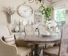 Incredible Fancy French Country Dining Room Design Ideas 04