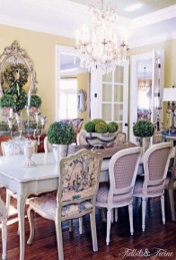 Incredible Fancy French Country Dining Room Design Ideas 05