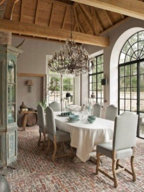 Incredible Fancy French Country Dining Room Design Ideas 08