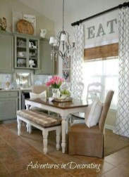 Incredible Fancy French Country Dining Room Design Ideas 20