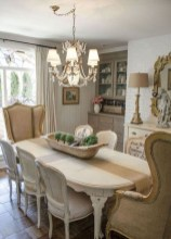 Incredible Fancy French Country Dining Room Design Ideas 30