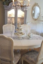 Incredible Fancy French Country Dining Room Design Ideas 33