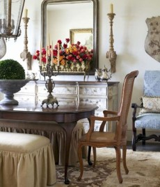Incredible Fancy French Country Dining Room Design Ideas 38