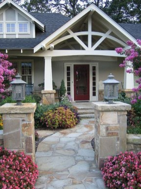 Stunning Front Yard Path Walkway Design Ideas 52