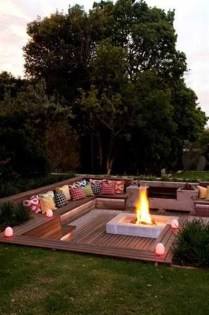 Amazing Backyard Seating Design Ideas 16