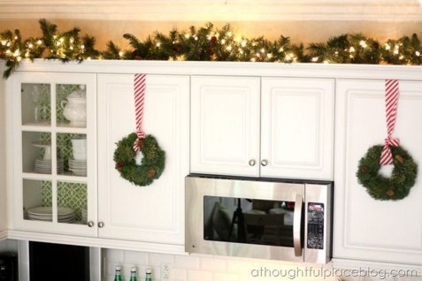 Awesome Decorating Above Kitchen Cabinets 19