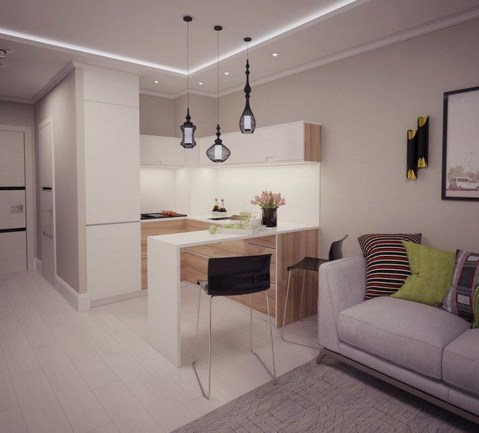 Beautiful Modern Small Apartment Design Ideas 46
