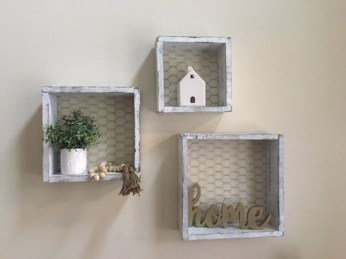 Cheap Decorative Box Shelves Ideas 18
