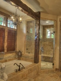 Gorgeous Rustic Farmhouse Bathroom Decor Ideas 30