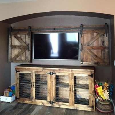 Cozy Minimalist Farmhouse Tv Stand Ideas 09