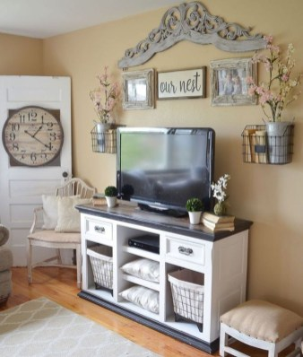 Cozy Minimalist Farmhouse Tv Stand Ideas 20