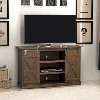 Cozy Minimalist Farmhouse Tv Stand Ideas 45