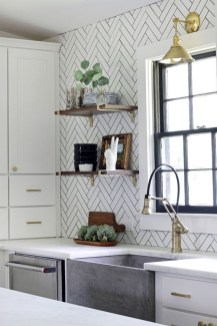 Cute Farmhouse Kitchen Backsplash Ideas 04