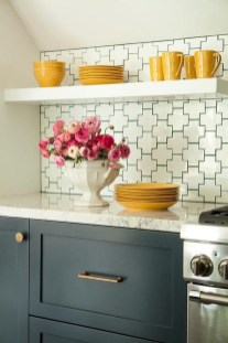 Cute Farmhouse Kitchen Backsplash Ideas 41