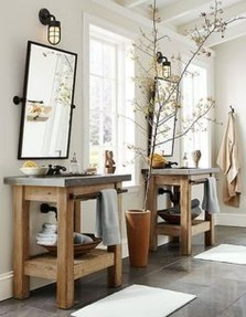 Lovely Farmhouse Bathroom Accessories Ideas 10