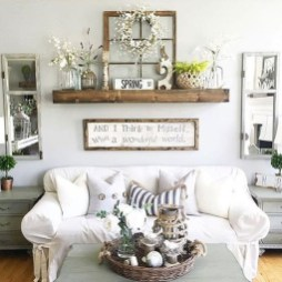 Awesome French Farmhouse Living Room Design Ideas 01