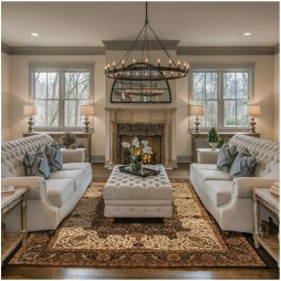 Awesome French Farmhouse Living Room Design Ideas 04