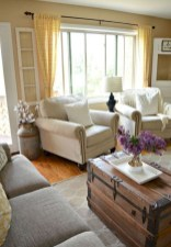 Awesome French Farmhouse Living Room Design Ideas 12